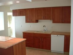 Kitchens With White Appliances And Dark Cabinets