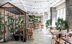 Designed by Danish firm Genbyg, Väkst is a new garden-inspired Nordic restaurant in Copenhagen built using recycled materials. inspiration nordic Väkst Restaurant Copenhagen by Genbyg — urdesignmag