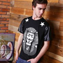 Hbb-02 últimos reis t Harajuku V de vingança t Hip hop 2015 homens roupas t-shirt Casual t-shirt Kanye west hba(China (Mainland))