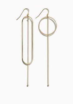 & Other Stories | Geometric Pendant Earrings