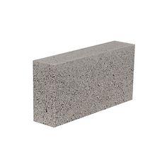 Aggregate Industries Grey Concrete Dense Block (H)100mm (W)215mm (L)440mm 13.7kg…