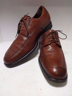 JOHNSTON MURPHY Mens Shoes 10.5 Brown Leather Oxford Derby Apron Toe #JohnstonMurphy #Oxfords #Formal