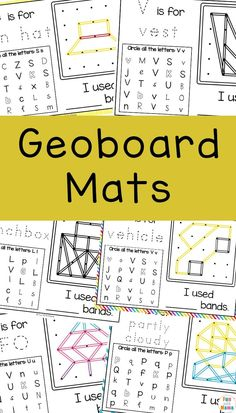 Geoboards patterns are a STEM activity that is also a wonderful tool for building fine motor skills, visual perception, and helps with their attention span. Hands On Learning, Hands On Activities, Preschool Activities, Daily Math, Fact Families, Math Notebooks, Math Concepts, Free Math, Homeschool Math