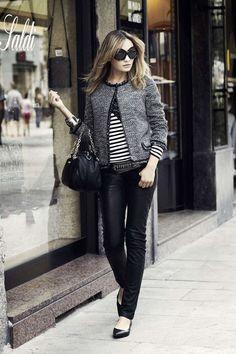 Come vestirsi a 40 anni - Look da giorno con pantaloni di pelle