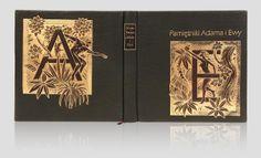 """""""Pamiętniki Adama i Ewy - Adam and Eve's Diaries"""" - Mark Twain. Original artistic books & handbindings. Rare books. Oprawy unikatowe.Oryginalna książka artystyczna. http://www.kurtiak-ley.pl/twain-mark-pamietniki-adama-i-ewy/"""