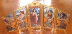1986 COCA COLA ADVERTISING 5 STAINED PANEL GLASS FOUR SEASON SCREEN VERY RARE! #CocaCola