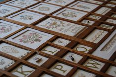 Printers Drawer, Type Setting, Shadow Box, Drawers, Cross Stitch, Monogram, Embroidery, Sewing, Holiday Decor