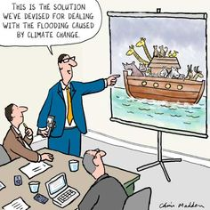 This is the solution we've devised for dealing with the flooding caused by climate change ...