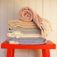 Hand-loomed Organic Cotton Throw Blankets