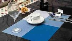 PVC waterproof dining table place mats (set of 4)
