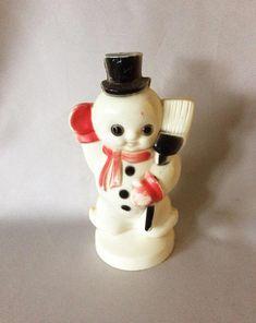 Blown Glass Christmas Ornaments, Antique Christmas Ornaments, Old Christmas, Beaded Ornaments, Snowman Ornaments, Christmas Snowman, Vintage Christmas, Christmas Decorations, Snowmen