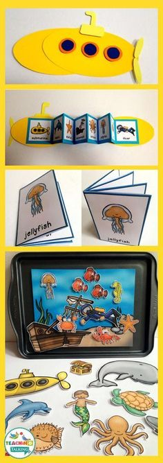 Vocabulary Activities Try these fun ocean theme vocabulary activities for kids!Try these fun ocean theme vocabulary activities for kids! Sea Activities, Vocabulary Activities, Animal Activities, Speech Therapy Activities, Language Activities, Activities For 1st Graders, Submarine Craft, Submarine Museum, Sensory Play
