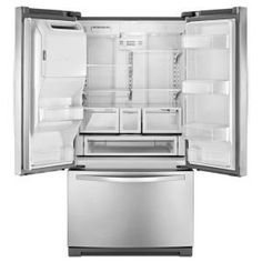 Whirlpool 26.1 cu. ft. French Door Refrigerator in Monochromatic Stainless Steel-WRF736SDAM at The Home Depot