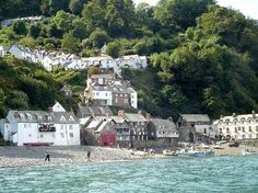 Clovelly from the sea, north Devon UK
