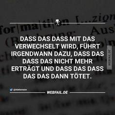 Immer wieder erstaunlich, wie einfach doch die deutsche Sprache sein kann.