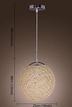 Globe Shaped 1-Light Pendant Light