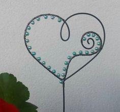 Zápich srdce - sv. zelené