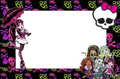 Monster High: Free Printable Party Invitations. Or use for place settings