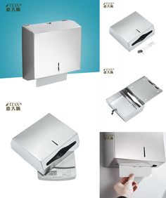 [Visit to Buy] ITAS3326 304Stainless Steel Holder Box Manual Hand Paper Towel Dispenser Tissue Wipe Rack Cup Machine Folding Square Key  #Advertisement