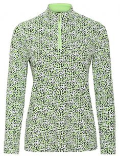 If you're in the market for some new outfits, consider our women's apparel! Shop this comfortable and stylish MONTAUK (Sprout) Sport Haley Ladies Dottie Mock Long Sleeve Print Golf Shirt from Lori's Golf Shoppe.