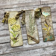 books papers and things Vintage Bookmarks, Diy Bookmarks, Bookmark Ideas, Card Tags, Gift Tags, Shabby Chic Embellishments, Scrapbook Paper, Scrapbooking, Tim Holtz Dies
