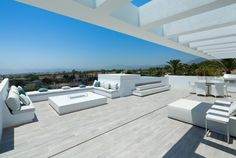 Modern Villa with Panoramic Sea Views for Sale in The Golden Mile, Marbella Dream Home Design, My Dream Home, House Design, Modern Villa Design, Casas Containers, Modern Architecture House, Modern House Plans, Outdoor Entertaining, Modern Luxury