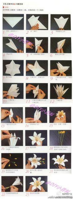 Flower - paper folded