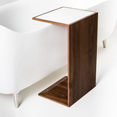 marble top? can also be used in living room sofa. Rogerseller Pirch Walnut Timber Side Table - Rogerseller