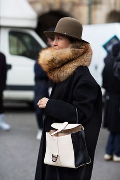 Chic advantage fashion chic.  Great winter street style.