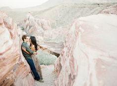 Whoa! Engagement pics in the beautiful desert?! Awesome!