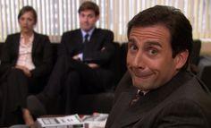 The Macron Show - The Interview - The Office Nbc, The Office Show, Reaction Pictures, Funny Pictures, Michael Scott The Office, Office Jokes, Office Wallpaper, Best Boss, Meme Faces