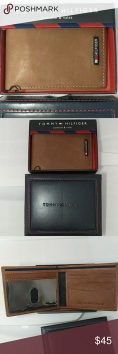 Tommy Hilfiger Camel Passcase Billfold NEW Brand New in Box. Brown Camel colored leather. Style 31HP22X001 Tommy Hilfiger Bags Wallets