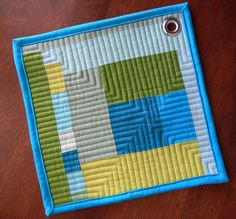 love the quilting and grommet by teaginny
