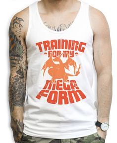 Training For My Mega Form Charizard Tank Tops