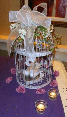 Love bird cage decoration