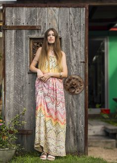 Gorgeous silk dress by Dreamers & Drifters