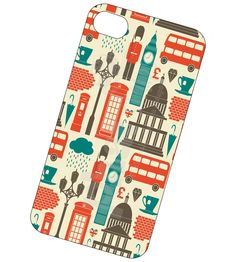 London Landmarks iPhone case, cover for iPhone 4 and 4s - London Landmarks phone case. $16.95, via Etsy.