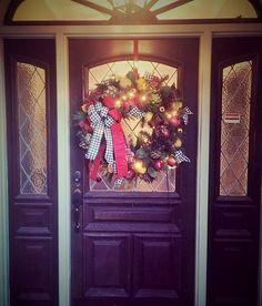 Custom Order Mackenzie Childs Wreath on a Customer's Door!