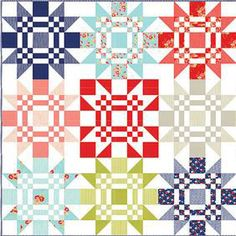 Additional Images of Red Letter Day Quilt Pattern Download by Thimble Blossoms - ConnectingThreads.com
