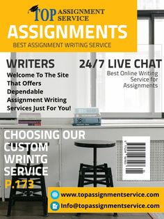 Top Assignment Services is best academic help services in order to keep the best custom writing service  #TopAssignment #WritingService #Service #Writing #Assignments  VIsit https://www.topassignmentservice.com/assignment-writers