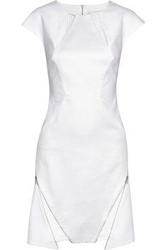 Richard Nicoll|Mesh-paneled cotton dress|NET-A-PORTER.COM
