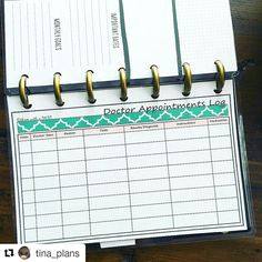 This Doctor Appointments log fits the new Mini Happy Planner! There are a few other inserts for this new size listed so check out the shop!