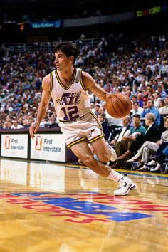 Jazz Basketball, John Stockton, Karl Malone, Utah Jazz, Sports Pictures, Kobe Bryant, Athlete, In This Moment, People