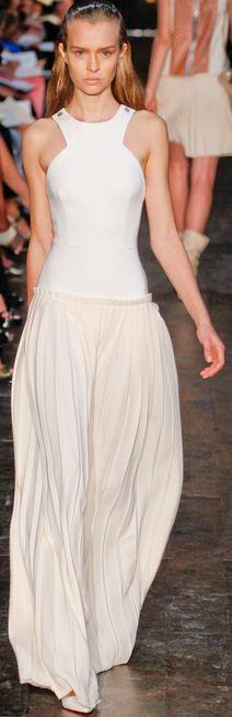 VB white maxi dress