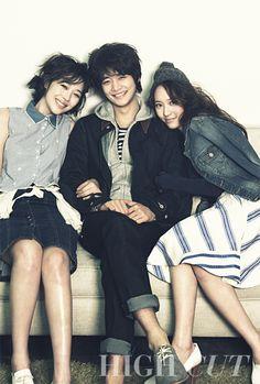 f(x) Sulli, SHINee Minho, and f(x) Krystal for High Cut, Issue 94