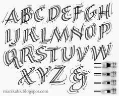 Marika KK Calligraphy: Spring Calligraphy - Keväiset iloiset kirjaimet
