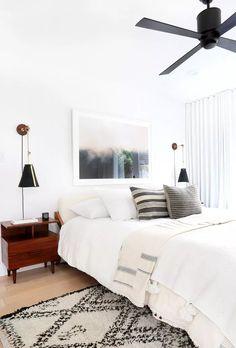 Best Fan For Bedroom, Small Room Bedroom, Bedroom Wall, Bed Room, Gray Bedroom, Simple Bedroom Decor, Cute Bedroom Ideas, Home Decor Bedroom, Bedroom Furniture