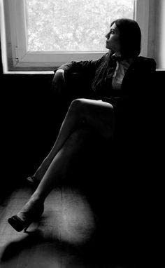 Megan. #legs #suit
