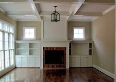 built in bookcase with fireplace and windows Fireplace Windows, Fireplace Bookshelves, Fireplace Built Ins, Bookshelves Built In, Fireplace Wall, Living Room With Fireplace, Fireplace Surrounds, Bookcases, Ceiling Windows