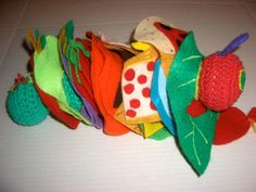 The Very Hungry Caterpillar - Puppet Show (crochet plush and felt pieces)